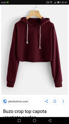 To find out about the Drawstring Hooded Crop Sweatshirt at SHEIN, part of our latest Sweatshirts ready to shop online today! Komplette Outfits, Teen Fashion Outfits, Outfits For Teens, Casual Outfits, Crop Top Hoodie, Cropped Hoodie, Vetement Fashion, Cute Crop Tops, Teen Crop Tops