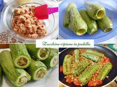 Plněné cukety v pánvi snadný recept - Profumi Sapori & Fantasia Pickles, Cucumber, Food, Fantasy, Essen, Meals, Pickle, Yemek, Zucchini