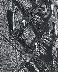 fire escape, new york, 1949 photo by andré kertész Andre Kertesz, Budapest, Robert Doisneau, New York City, Berenice Abbott, Fire Escape, Exhibition, Man Ray, Famous Photographers