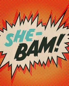 Items similar to Comic Strip Prints - Set of Four - Shebam, Pow, Blop, Wizz - Serge Gainsbourg Inspired on Etsy Bd Comics, Comics Girls, Andy Warhol, Bd Pop Art, Art Pulp, Les Fables, Power Pop, Girl Power, Culture Pop