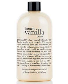 philosophy french vanilla bean ice cream 3-in-1 shampoo, shower gel & bubble bath, 16 oz - Bath & Body - Beauty - Macy's