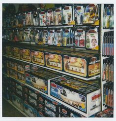 Store shelves stocked with Kenner Star Wars toys