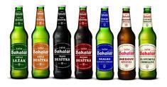 Nová vizuální identita celého portfolia Bakalář Beer Bottle, Menu, Drinks, Menu Board Design, Drinking, Beverages, Beer Bottles, Drink, Beverage