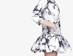 Pierre Balmain Black Ink Blossom Couture Dress