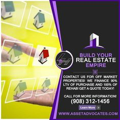 Investors NEED a Plan. Let us work together and bring in the NEW Year bigger than the last. We need Fix and Flip investors looking to buy and rehab properties.  We also need Contractors looking to GROW your business exponentially.  We have what you NEED. Call NOW! (909) 312-1456  Get Hard Money Loans up to 90% of Purchase and 100% of Rehab. CALL NOW TO FIND OUT!  Call Today for a FREE Consultation! (908) 312-1456 Visit http://ift.tt/1Yam6MX and learn how to become a Real Estate Investor…