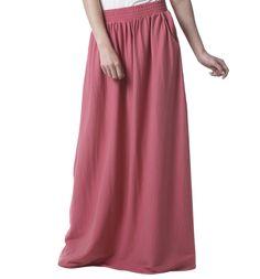 Jupe longue femme - Vieux Rose - Jupes - Femme - Promod