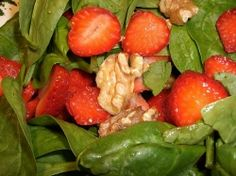 Need that perfect something to start your meal off with? Try this tasty Spring Strawberry Spinach Salad and you'll want to turn it into a meal! Great tasting and low in fat, this Spring Strawberry Spinach Salad recipe is a great way to start off any meal.