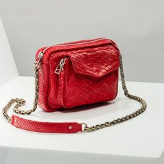 CLARIS VIROT Sac Bandoulière Charly Rouge 425,00 €