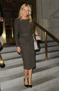 Gwyneth Paltrow wearing Burberry Prorsum A/W12 Pre-Collection in New York City