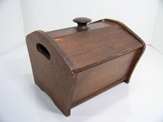 Vintage Wood Sewing Basket Box by SmakBoutique on Etsy, $24.95