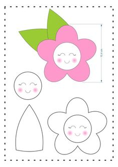 Molde de flor para lembrancinha Baixar molde de feltro de flor para lembrancinha de festas e eventos Felt Flowers Patterns, Felt Crafts Patterns, Fabric Crafts, Quiet Book Templates, Felt Templates, Felt Flower Template, Finger Puppet Patterns, Easy Drawings For Kids, Sewing To Sell