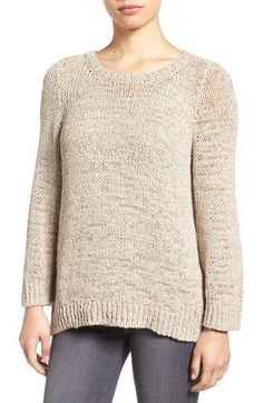 Free shipping and returns on Eileen Fisher Rustic Open Stitch Crewneck Sweater at Nordstrom.com. A peekaboo knit of linen-infused tape yarns creates a cozy yet breathably light feel for an easy pullover in a works-with-everything natural shade.