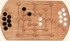 Nine Mens Morris Board Game by Jay's Woodshop.