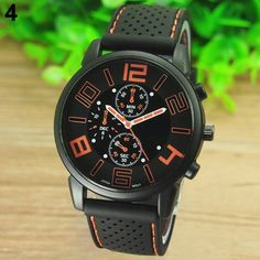 Buy Sports Touring Mens Watch: Orange Dial. for R160.00