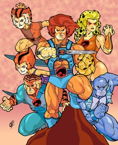 Thundercats by ~SpikeHDI  for my Natalie: Thunder, Thunder, Thunder Cats, Ho!