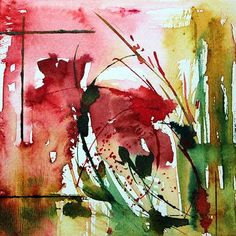 # 94 2013 Painting, 15x15 cm by Véronique Piaser-Moyen © Original watercolor on paper 300 G