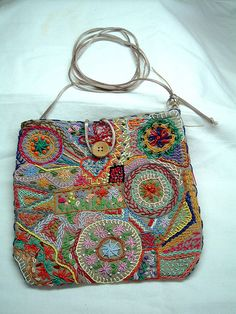 'Embroidered Bag' ~ Maria Fulo