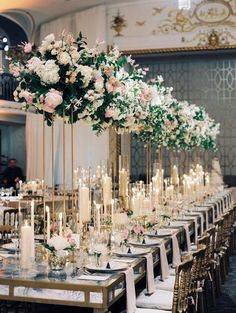Masterful Elegant Classy Wedding Ideas Masterful Elegant Classy wedding ideas---blush chic wedding reception table settings, diy wedding centerpieces with candles and tall florals, spring weddings, wedding decors. Wedding Reception Tables, Wedding Table Centerpieces, Wedding Table Settings, Reception Ideas, Centerpiece Ideas, Wedding Receptions, Centerpiece Flowers, Diy Flowers, Non Floral Centerpieces