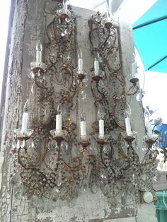BIG BEADED SCONCES AT MYPARISFLEAMARKET.COM