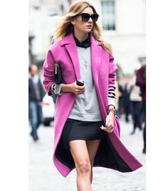 Obsessed. Need a pink coat ASAP. (P.S. Click to shop this look!)