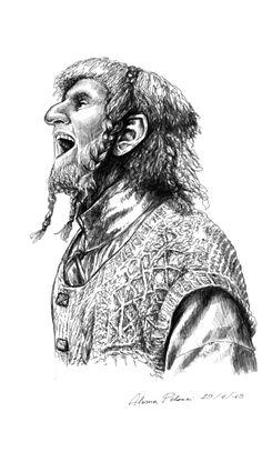 Art Drawings Professional Sale A4 Black Ink Marker Pen Sketch Drawing The Hobbit Martin Freeman As Bilbo C