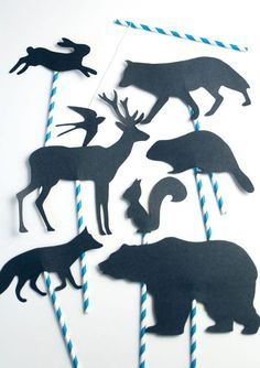 30 Easy & Fun Paper Crafts for Kids Teen Crafts, Paper Crafts For Kids, Crafts For Teens, Puppets For Kids, Shadow Puppets, Paper Goods, Free Printables, Garland, Moose Art