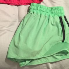 Lululemon hotty hot short! very hard to find color Pistachio green hotty hot! Sold out everywhere! Loved this color so much! Too big. Excellent condition!! 2nd price shows selling price on eBay as this color is never found! lululemon athletica Shorts