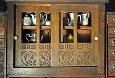 German fancy goods shop attributed to J.F. Schreiber, c1910; finials and brass rod added; modern ladder