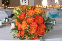 Flowers, Green, Bouquet, Orange, Bridesmaids, Yellow, Bridal, Fall, Rose, Circus