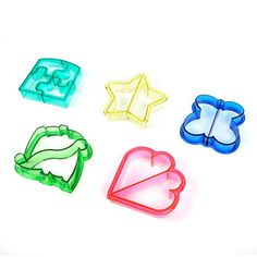 Crusty's All-Stars Sandwich Cutters - Set of 5 Fun Shapes - Heart, Butterfly, Dinosaur, Puzzle and Star