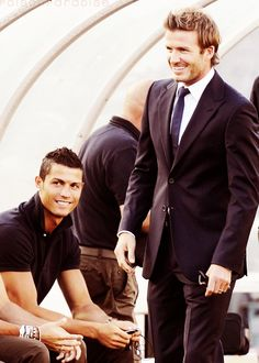 Cristiano Ronaldo AND David Beckham!! There is just too much beauty in this picture... Oh shit imagine a threesome