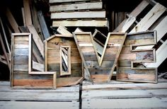 Reclaimed Wood Marquee Letters (A-z) Recycled Pallets