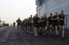 Marines running on ship. #motivation #fitness #marines