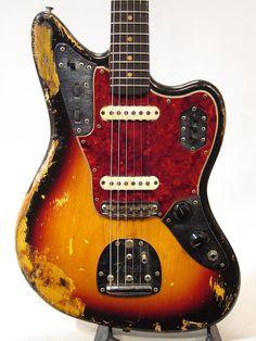 well worn 60s Fender Jaguar