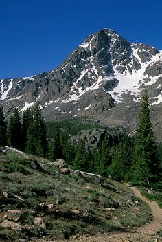 Mount of the Holy Cross, Sawatch Range, Colorado.  14,005 ft; photo by Andy Cook