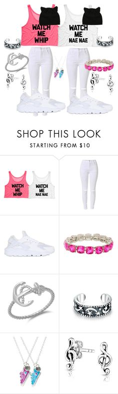 """""""bffs forever kiyah and hunter"""" by untiabigelow ❤ liked on Polyvore featuring NIKE, Natasha Accessories and Bling Jewelry"""