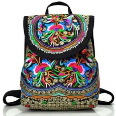 9185ebc1d7 Embroidered Hippie Backpack (31 CAD) ❤ liked on Polyvore featuring bags