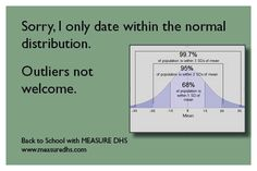 Sorry, I only date within the normal distribution. Outliers not welcome. with The DHS Program Math Jokes, Science Jokes, Ap Statistics, Normal Distribution, Ap Psychology, I Love Math, Lean Six Sigma, Classroom Quotes, International Development