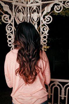 black hair ombre-dye