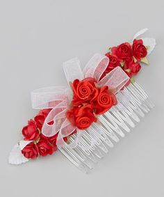 Look at this Burgundy Rose Comb on #zulily today!