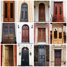 Collage de puertas antiguas .Asunción-Paraguay