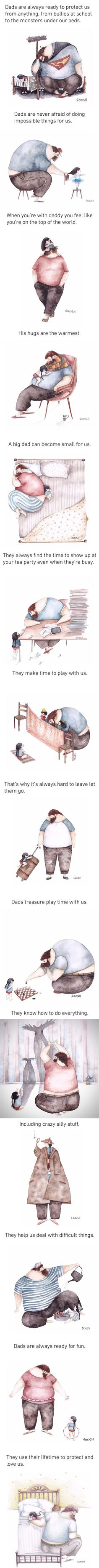 Heartwarming Illustrations About The Love Between Dads And Their Little Girls (By Soosh)