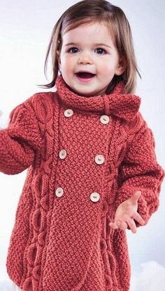 Baby Toddler Coat with XO Cables Knitting Pattern PDF Baby Boy Girl Coat dk Knitting Pattern pd Knitting For Kids, Free Knitting, Baby Knitting, Crochet Baby, Knit Crochet, Booties Crochet, Vintage Knitting, Baby Booties, Knitting Projects