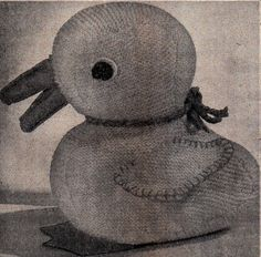 Vintage knitted Duck Knitting Pattern 4ply by LoveFromNewZealand