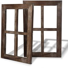 Cade Rustic Wall Decor Window Barnwood Frames -Farmhouse Decoration Bedroom, And 713145016347