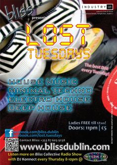 2012.08 Lost Tuesdays Poster House Music, Techno, The Best, Lost, Posters, Postres, Banners, Billboard, Poster