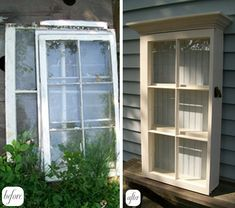 Old Window project, this cabinet would be great in kitchen or bath!
