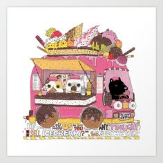 IceCream Truck Art Print by ShangheeShin - $17.68