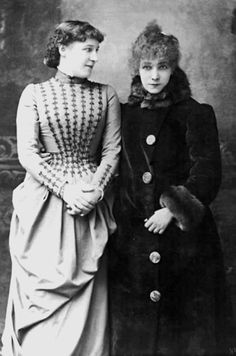 Lillie Langtry and Sarah Berhardt, 1897.