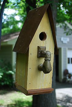 Antique Hand Ball Doorknocker Birdhouse | eBay